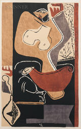 Le Corbusier (French/Swiss, 1887-1965)      Femme à la main levée