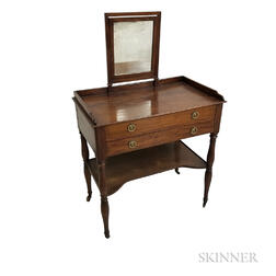 Federal Mahogany Mirrored Dressing Table