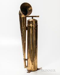 Large Brass Ship's Foghorn
