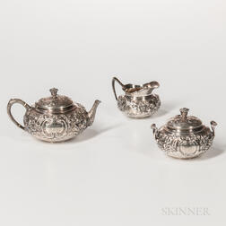 Three-piece Tiffany & Co. Sterling Silver Tea Service