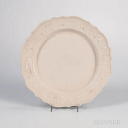 "Staffordshire White Salt-glazed Stoneware ""King of Prussia"" Plate"
