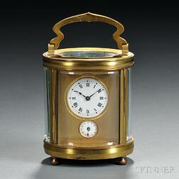 Miniature Oval Carriage Clock with Alarm