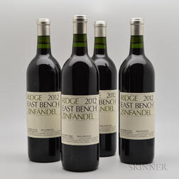 Ridge East Bench Zinfandel 2012, 4 bottles