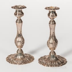"""Pair of Reed & Barton """"Francis I"""" Sterling Silver Candlesticks"""