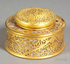 Tiffany Studios Grapevine Round Inkwell