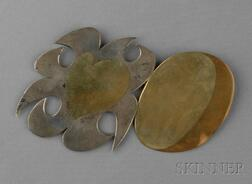 Silver, Copper, and Brass Pendant/Brooch, Carol Summers