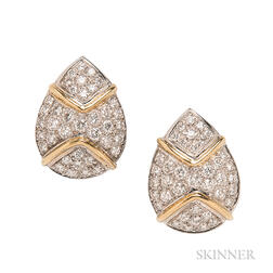 18kt Gold and Diamond Earrings