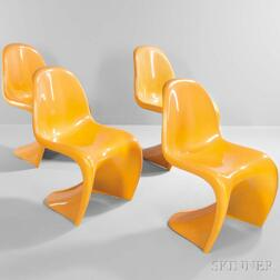 Four Verner Panton Chairs