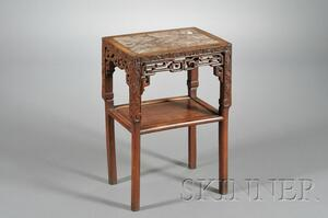 Marble Inset Rosewood Stand