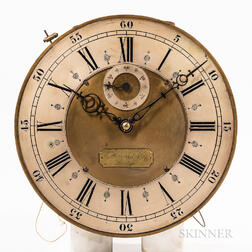 E. Howard & Co. Hall Clock Movement and Dial with Ratchet Wind
