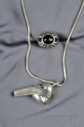 """Two Sterling Silver """"Caviar"""" Jewelry Items, Lagos"""