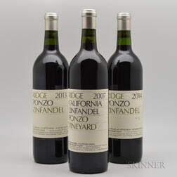 Ridge Ponzo Vineyard, 3 bottles