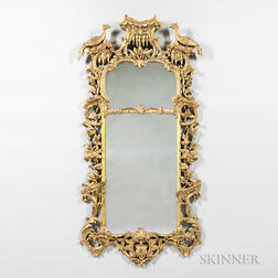 Rococo-style Gilt-gesso Carved Wood Mirror