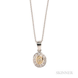 18kt White Gold and Diamond Pendant