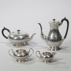 Four-piece George IV Sterling Silver Tea and Coffee Service