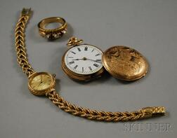 Three Gold Jewelry Items