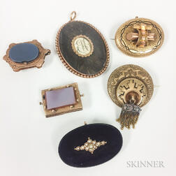 Six Pieces of Antique Jewelry