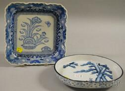Two Japanese Blue and White Decorated Porcelain Dishes.