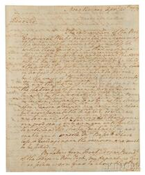 Washington, George (1732-1799) Autograph Letter Signed, Mount Vernon, 20 April 1773.