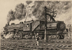 Reginald Marsh (American, 1898-1954)      Loco - Erie Watering