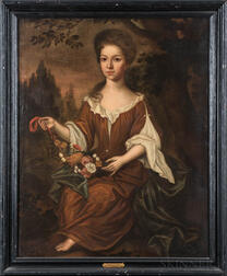 Attributed to Charles Bridges (Virginia/England, 1670-1747)      Portrait of a Young Woman
