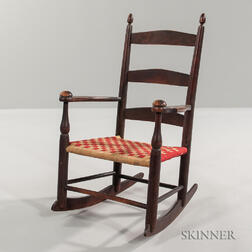 """Child's Shaker """"0"""" Rocker with Decal"""