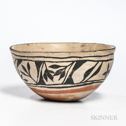 Southwest Polychrome Pottery Bowl