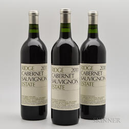 Ridge Cabernet Sauvignon Estate 2011, 3 bottles