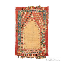 Early Ottoman Prayer Kilim