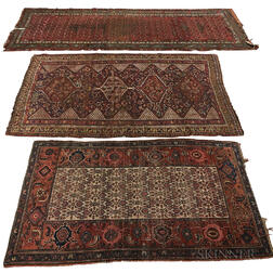 Three Kurdish Rugs