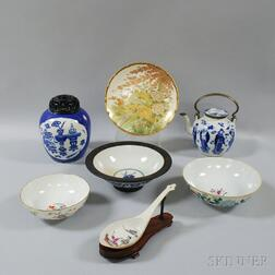 Seven Chinese and Japanese Ceramic Items