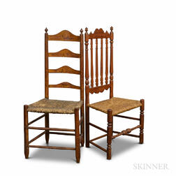 Two Maple Side Chairs