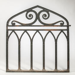 Wrought Iron Gothic Revival Gate