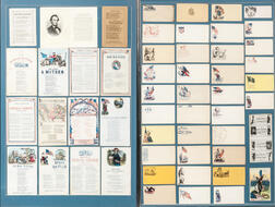Framed Civil War Pictorial Postal Covers and Illustrated Song Sheets