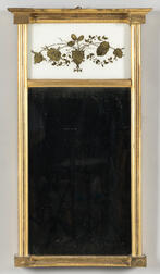 Federal Gilt and Eglomise Mirror