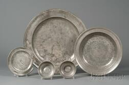 Five Pewter Items
