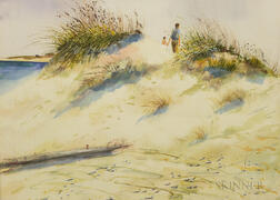 Robert Driscoll (Massachusetts, 20th/21st Century)       Beach Scene with Sand Dunes