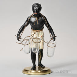 Blackamoor Figure with Glass Holders