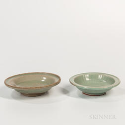 Two Celadon-glazed Dishes