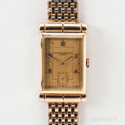 Vacheron Constantin 14kt Gold Tank Wristwatch