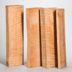 Four Violoncello Neck Blocks.