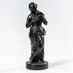 Wedgwood Black Basalt Figure of Innocence