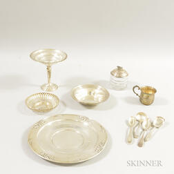 Seven Pieces of Sterling Silver Tableware