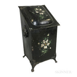 Floral-decorated Tin Plate Warmer