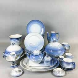 Approximately Eighty-six Pieces of Bing & Grondahl Seagull-decorated Porcelain Tableware.     Estimate $600-800