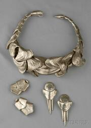 Metal Necklace and Earpendants