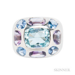 18kt White Gold Gem-set Ring, Chanel