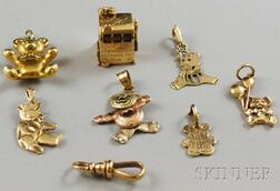 Seven 14kt Gold Charms