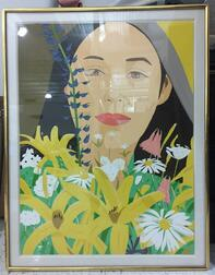 Alex Katz (American, b. 1927)      Ada with Flowers