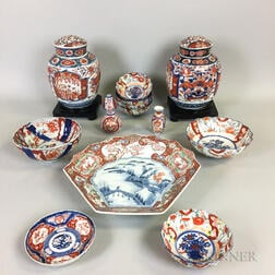 Thirteen Pieces of Japanese Imari Porcelain